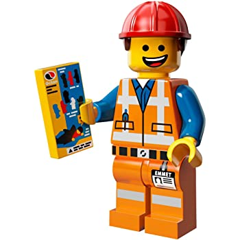 NEW LEGO CONSTRUCTION WORKER MINIFIG tool box figure city town minifigure