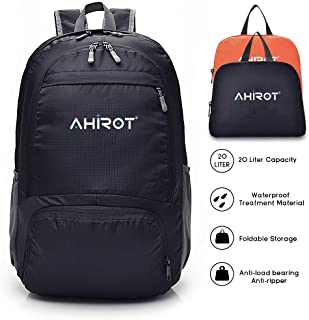 AHIROT Packable Backpack Ultra Lightweight Waterproof Hiking Daypack 20L for Travel/Hiking/Camping/Outdoors