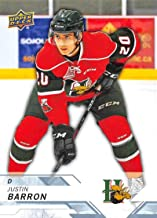 2018-19 UD CHL #91 Justin Barron Halifax Mooseheads Official Canadien Hockey League Trading Card by Upper Deck