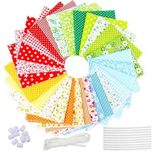 clasificación y comparación 28 tejidos de algodón patchwork, tejidos textiles, tejidos florales, costura… para casa