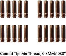 MD0008-08 Contact Tip Kit 0.8mm 0.030'' for MIG Everlast Welder PKG-20 EV-MD0008-08