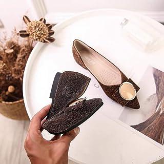 XL_nsxiezi Zapatos de Mujer de Fondo Plano Puntiagudo Suela Suave Zapatos Casuales