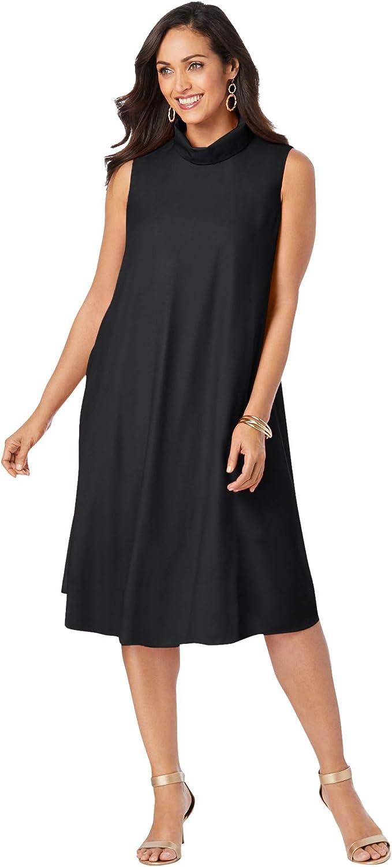 Jessica London Women's Plus Size Georgette Mock Neck Dress