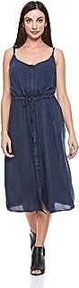 Brave Soul A Line Dress for Women - Navy 16 UK