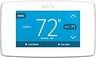 Emerson Sensi Touch Wi-Fi Smart Thermostat with Touchscreen Color Display, Works with Alexa, Energy Star Certified, C-wire Required, ST75W