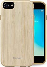 iPhone 6/6s/7/8 Compatible Case, Evutec AER Series Real Wood Thin Slim [1.6 mm] Lightweight Shock Absorption Premium Protective Phone Case cover- Bamboo (AFIX+ Magnetic Mount Included)