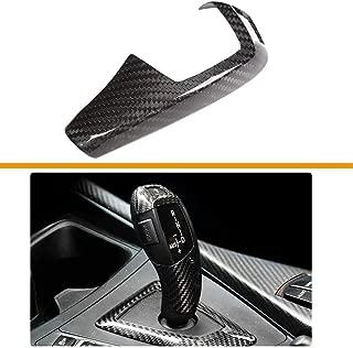 TULIN Carbon Fiber Gear Shift Knob Cover Trim for BMW F20 F30 F31 F34 X5 F15 X6 F16 X3 F25 X4 F26 F10 - Style 1