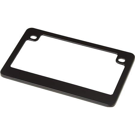 Custom Frames 92774 Matte Black Dealer Frame Motorcycle License Plate Frame
