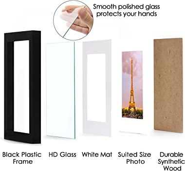 upsimples 11x14 Picture Frame Set of 3,Made of High Definition Glass for 8x10 with Mat or 11x14 Without Mat,Wall Mounting Pho