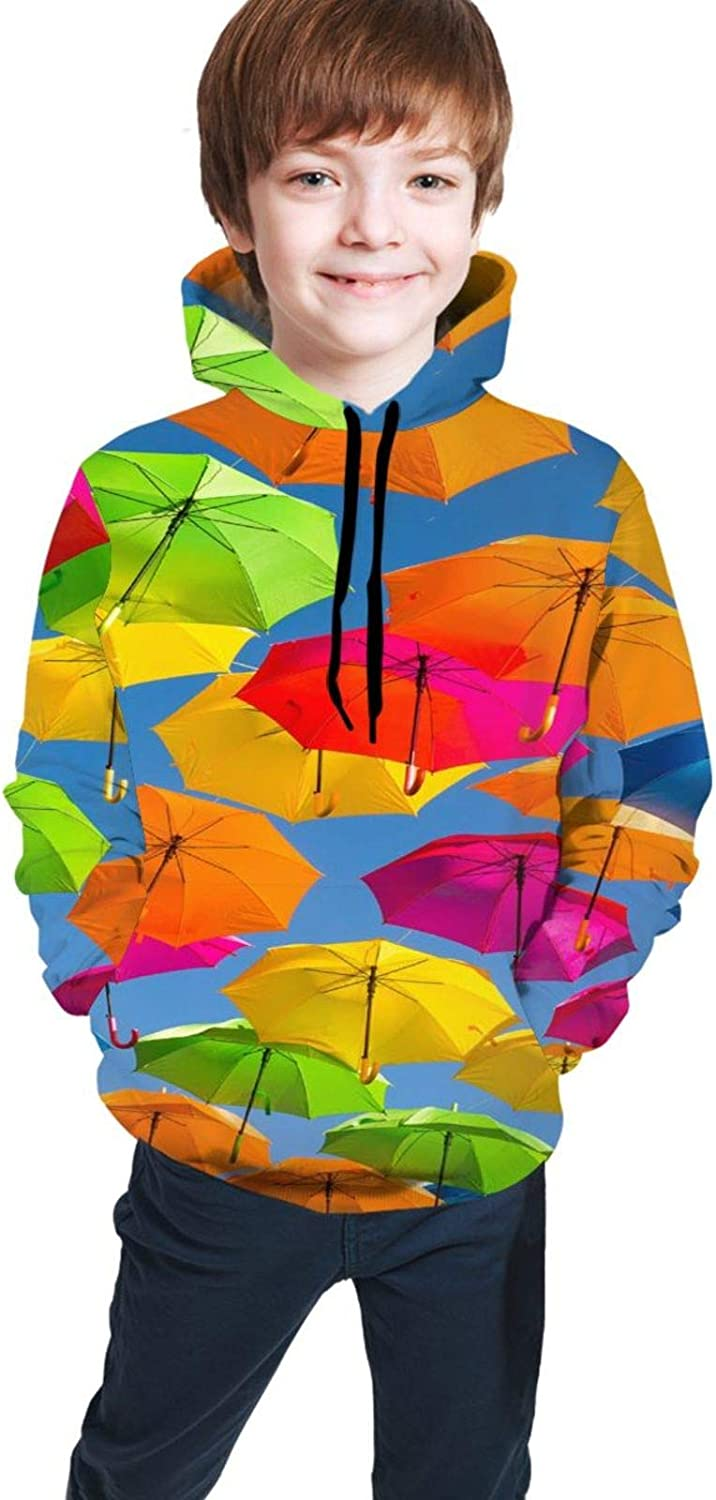 Kimisoy Umbrella Wallpaper Color Popular shop is the lowest price challenge Kids Sweats Comfy Hooded Hoodie Max 49% OFF