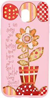 Margoun Pinky Case for Samsung Galaxy J5 Pro / j5 2017 (5.2 inch) TPU Protective Back Cover/With Vase Design - MG06