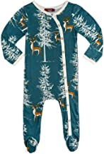 Milkbarn Bamboo Footed Romper, (Christmas Buck, 18-24 Months)