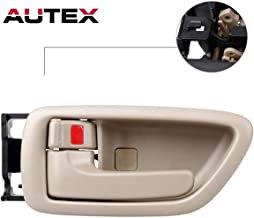 AUTEX Door Handle Interior Front/Rear Left Driver Side Beige Compatible with Toyota Avalon 2000-2004/Toyota Tundra 2004-2006 Replacement for Toyota Sequoia 2001-2007 Door Handle 81282 69206-AC010-E1