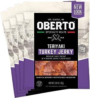 Sponsored Ad - Oberto Specialty Meats Teriyaki Turkey Jerky, 3.25 Ounce (Pack of 4)