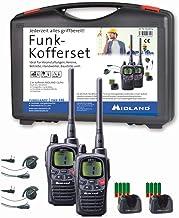 Midland G9 Pro Funkgeräte-Kofferset, AL206.S4, 2 x Walkie Talkies, wasserdicht und mit..