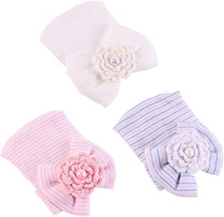 Newborn Baby Hospital Hat Soft Cotton Toddler Kids Girl Head Wrap with Big Bow Cap