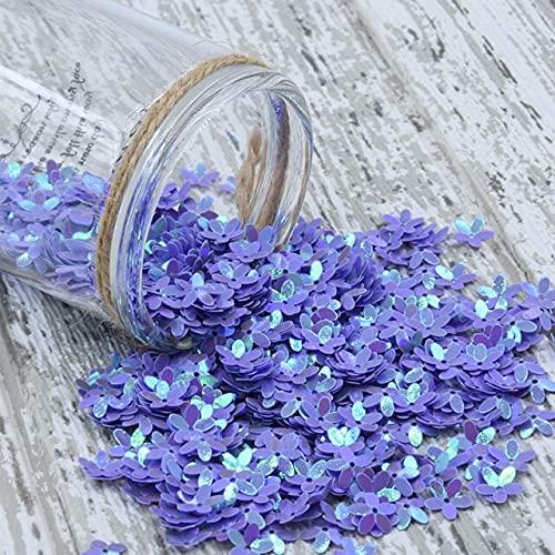 SUNYUAN Lentejuelas de flores de 10 mm de cinco pétalos sueltos de lentejuelas de PVC para costura, manualidades, bodas, mujeres, niños, accesorios de ropa, 20 g