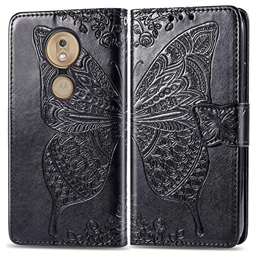 THRION Cover per Moto G7 Play, Flip Case in Pelle PU Premium Case Morbido Protettiva Portafoglio per Moto G7 Play, con Carte Slot, Funzione, Rosa