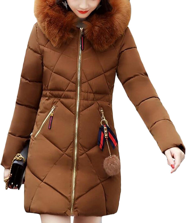 Generic Women's Winter Puffer Hooded Down Jackets Parka Coats