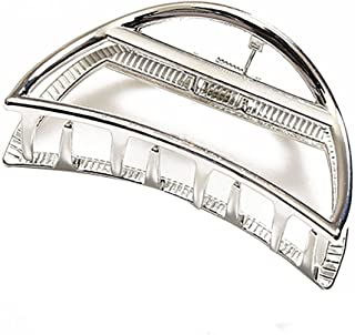 Fodattm Semicircle, Silver: Vintage Metal Hair Claw Hair Jaw Clips Hair Clamp Accessories For Girls Women (Semicircle, Silver)