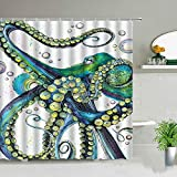 MKIJYD DuschvorhangRomantisches Paar Delphin Duschvorhänge Niedlichen Ozean Tier Tropischer Fisch Kinder Badezimmer Dekor wasserdichte Stoff Vorhang Set