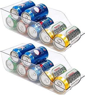 BUZIFU 2 Pcs Boite Rangement Frigo en Plastique Rangement Frigo Transparent Facile à Nettoyer 34.5 * 14.5 * 10.5cm Bac Ali...