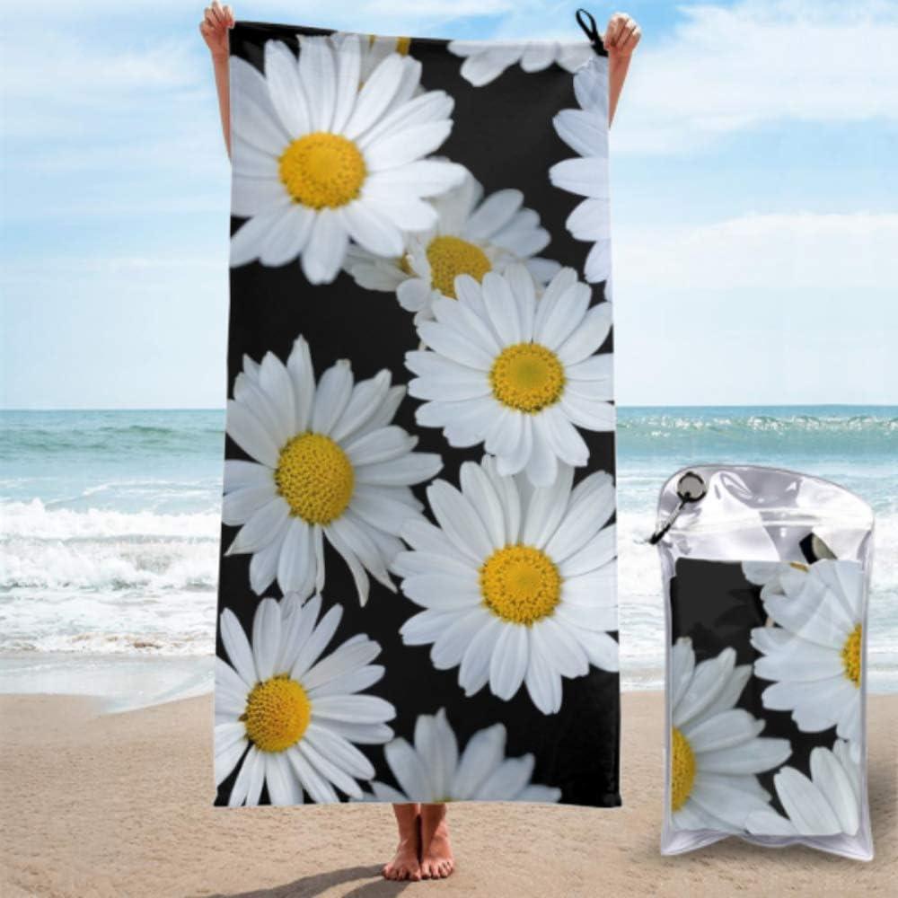 AIKENING Towel Quick Drying Flowers Daisies Popular popular White Las Vegas Mall Wallpape Daisy