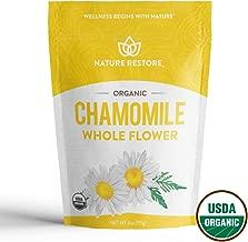 USDA Certified Organic Chamomile Tea Loose, Whole Flower, 4 Ounces
