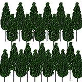 BESTZY 30PCS Model Trees Mixed Model Tree Diorama Tree Train Trees Railroad Scenery for DIY Scenery Landscape Natural Green(65mm)
