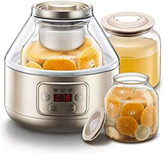WGNHM Large Capacity Homemade Enzyme Machine Glass + Ceramic Household Automatic Yogurt Machine (Color : Gold)