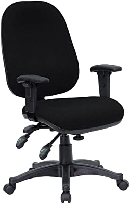 Offex Mid Back Multi Functional Black Fabric Swivel Computer Chair