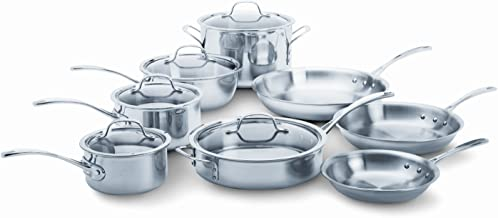 Calphalon Tri-Ply Stainless Steel 13-Piece Cookware Set (Renewed)