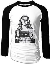 TammyRLewis Men's Devil's Rejects Baby Sheri Moon Zombie Horror Movie Fashion Casual Long Sleeve Baseball T-Shirts Black