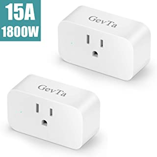 GevTa Wifi Smart Plug Socket,Mini Switch Outlet Compatible with Alexa,Remote Control Your Home by Phone