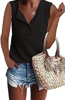d54e9a01bee Comfortable Sweet Simple Sport Vest Tank Top Yoga Women Waffle Knit Tunic T-Shirt  Sleeveless