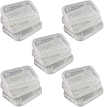 NUOMI 15Pcs SD/SDHC Memory Card Case Holder, Standard SD Plastic Storage Boxes, Clear Compact