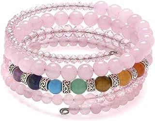 Top Plaza 7 Chakra Yoga Meditation Healing Crystal Beads Bracelet Multilayer Wrap Bracelets Bangle Reiki Quartz Jewelry fo...