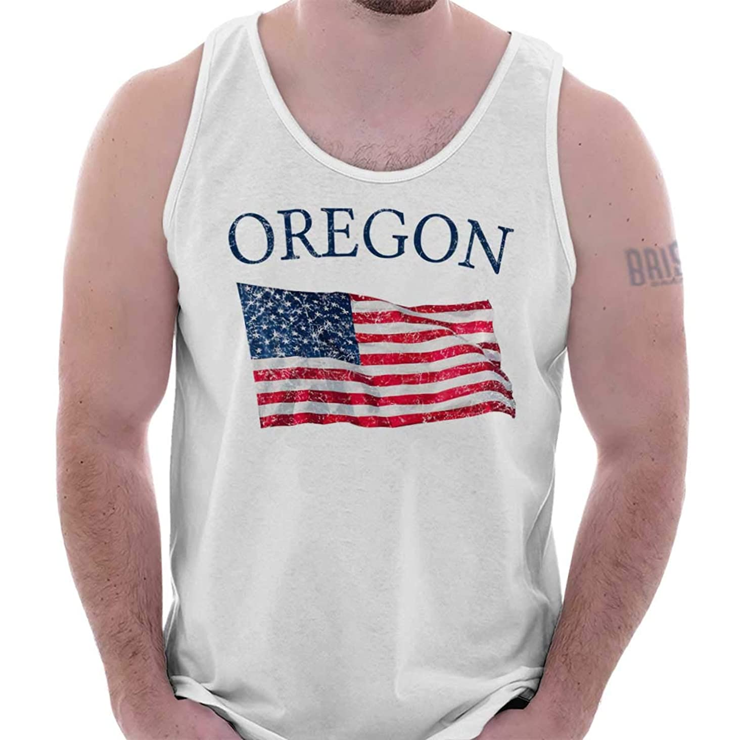 Oregon United States Patriotic USA Flag OR Tank Top