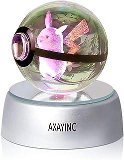 AXAYINC 3D クリスタルボール LED ナイトライト アドバンス レーザー彫刻 子供へのプレゼントに