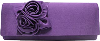 Wiwsi New Ladies Satin Envelope Bag Clutch Wedding Bridal Evening Clutch Handbag
