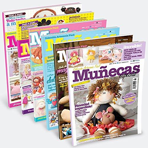 Pack 10 revistas de Muñecas de tela paso a paso