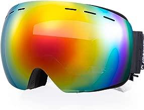 NODLAND S1 Ski Goggles OTG Over The Glass Anti-Fog Snowboard Goggles, UV400 100% UV Protection, Interchangeable Double Layer Spherical Lens Frameless Goggles for Men, Women, Unisex