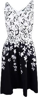 12cfb30ff9cab Lauren by Ralph Lauren Women s Petite Floral-Print Dress (12P