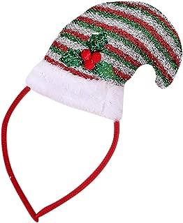 Christmas Tree Headbands,QueenMM LED Christmas Headwear Party Fancy Dress Novelty Accessory Headgear Party Snowman Santa