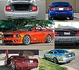 Exterior parachoques trasero letras emblema Inserts Logo hendidura portón trasero Set para 20052006200720082009Ford Mustang Saleen