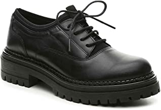 Shellys London Kemper Black Leather Tailored Lugged Sole Chunky Lace Up Oxford