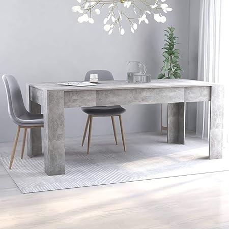 vidaXL Table de Salle à Manger Table à Dîner Table de Cuisine Table de Repas Meuble à Manger Maison Intérieur Gris Béton 180x90x76 cm Aggloméré