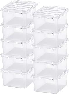 Lot de 10 Petites Boîtes de Rangement - Rangez Votre Maison avec Style et Praticité - Plastique - Transparent - Classic 2...