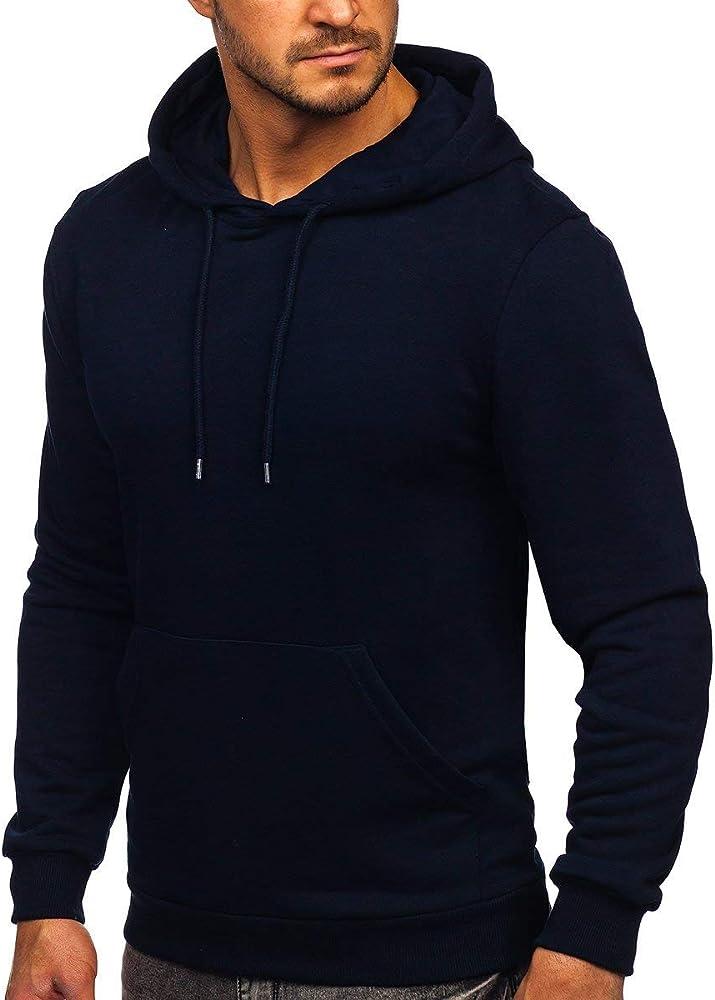 Bolf, felpa con cappuccio, pullover , sweat-shirt per uomo,93% cotone, 7% elastan BOLF 146253