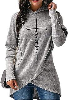 Sudadera con Capucha de Moda para Mujer suéter Grueso Camisa de Manga Larga